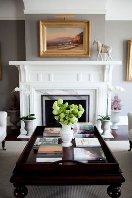 Love the architecture of this mantle.