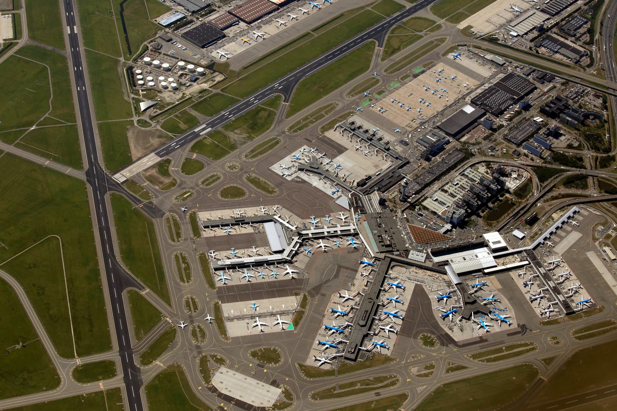 Schiphol Airport Seen From Above Seen