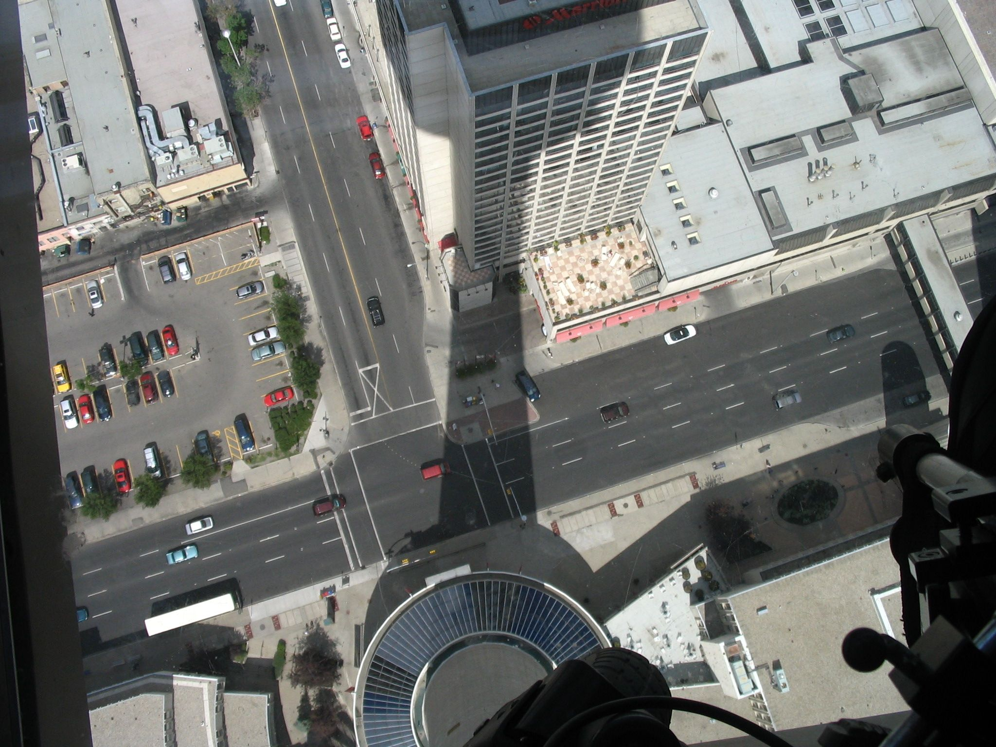 "Calgary can be literally ""at your feet"" from the glass floor of the Calgary Tower observation deck."
