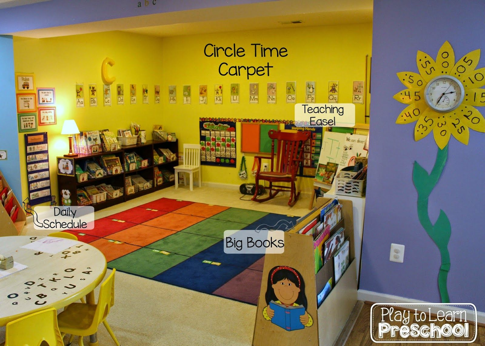 Best paint colors for preschool classrooms - A Tour Of The Classroom At Play To Learn Preschool