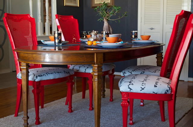 La Maison Boheme Diy My Dining Set Makeover On Houzz Diy Dining Room Dining Room Design Eclectic Dining Room