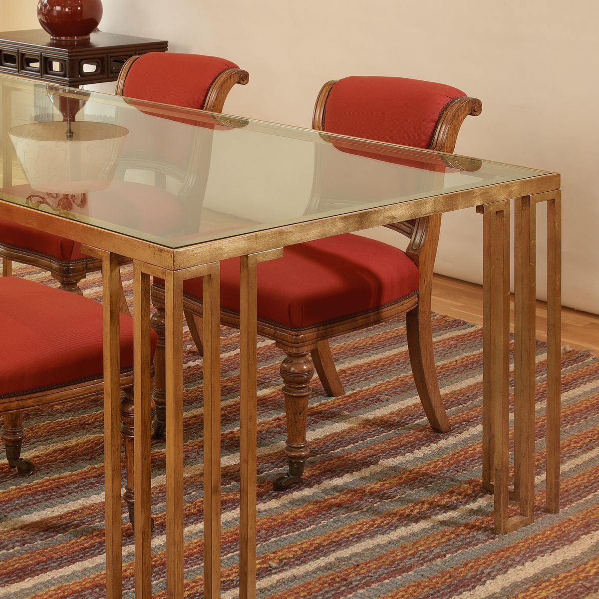 Haydon Greek Key Dining Table - Vaughan Designs | Dining ...