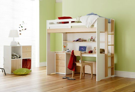 Taylor Loft Bed With Desk Bunk Beds Kids Bedroom Snooze