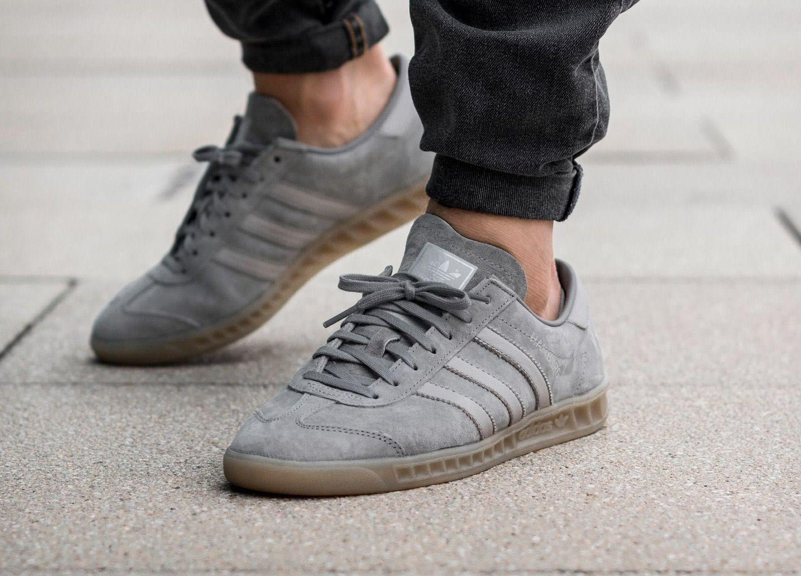 adidas Originals Hamburg: Grey | Adidas shoes originals, Shoes ...