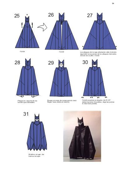 Batman Origami Tutorial Xinblog Food Salads Dressings