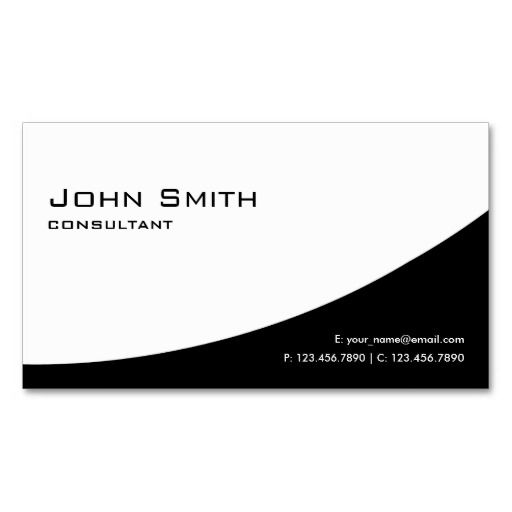 professional plain elegant modern black and white business card template