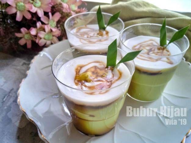 Resep Bubur Sumsum Hijau Pandan Oleh Vita Jaurina Resep Resep Pudding Desserts Makanan