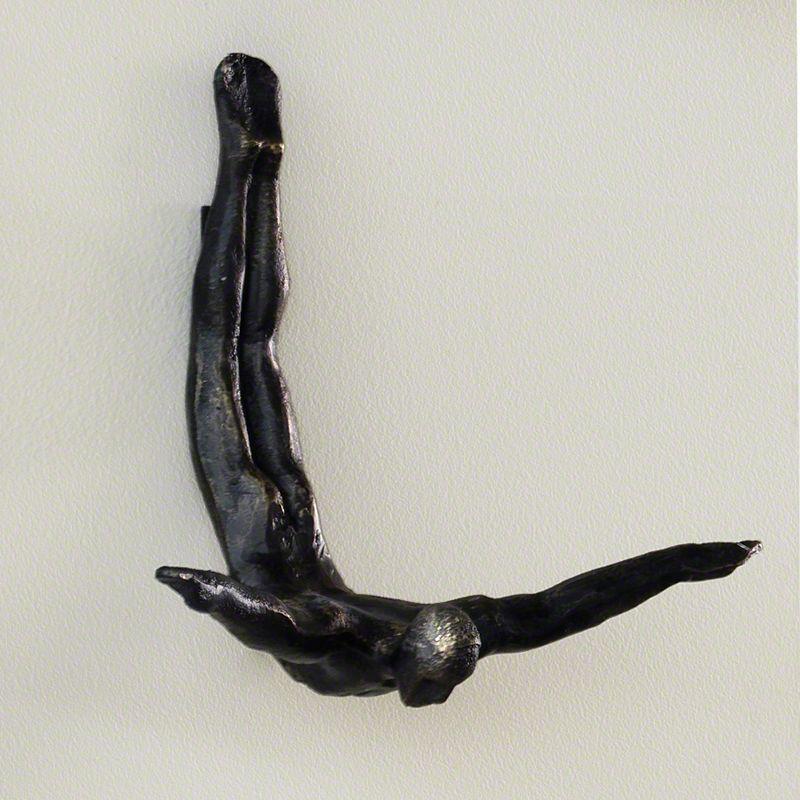 Global Views Diving man wall sculpture | Sculpture ...