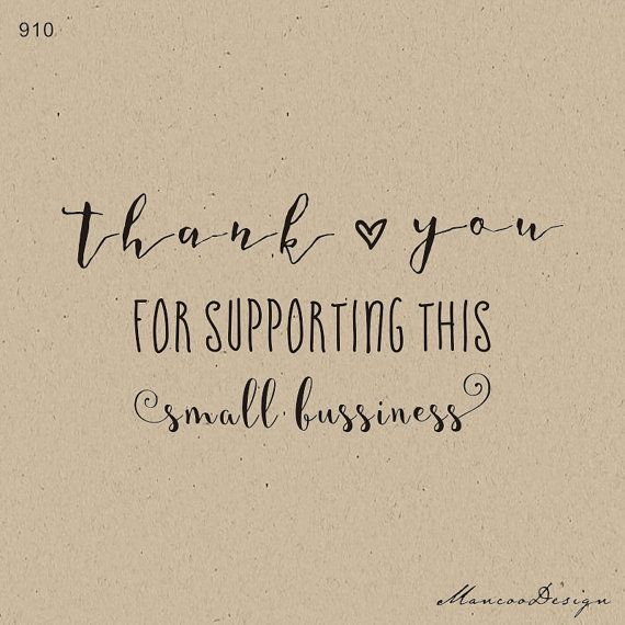 Small Business Quotes Mesmerizing Thank You For Supporting This Small Business Stamp Custom Rubber