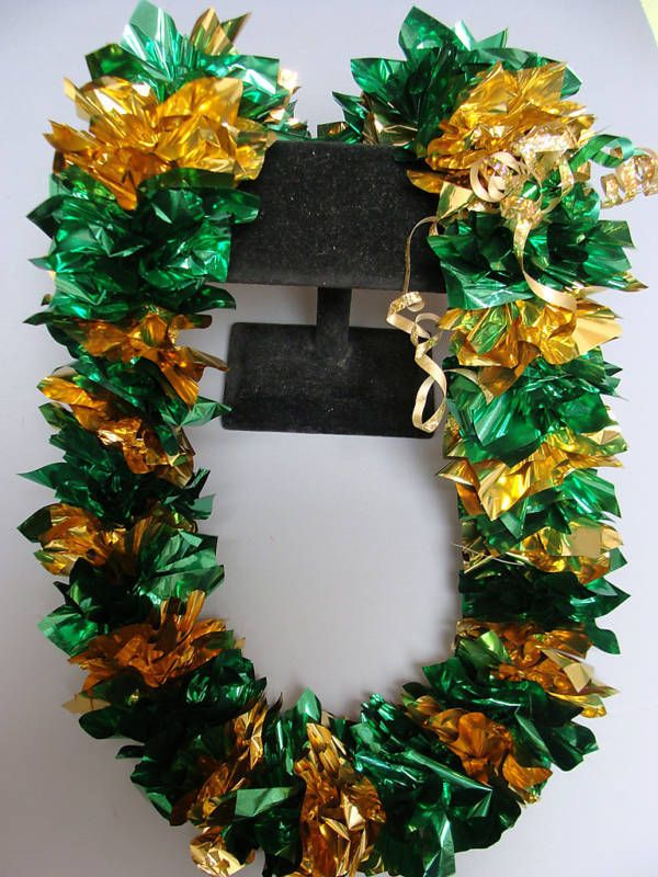 12 x Hawaiian Poly Green Lei