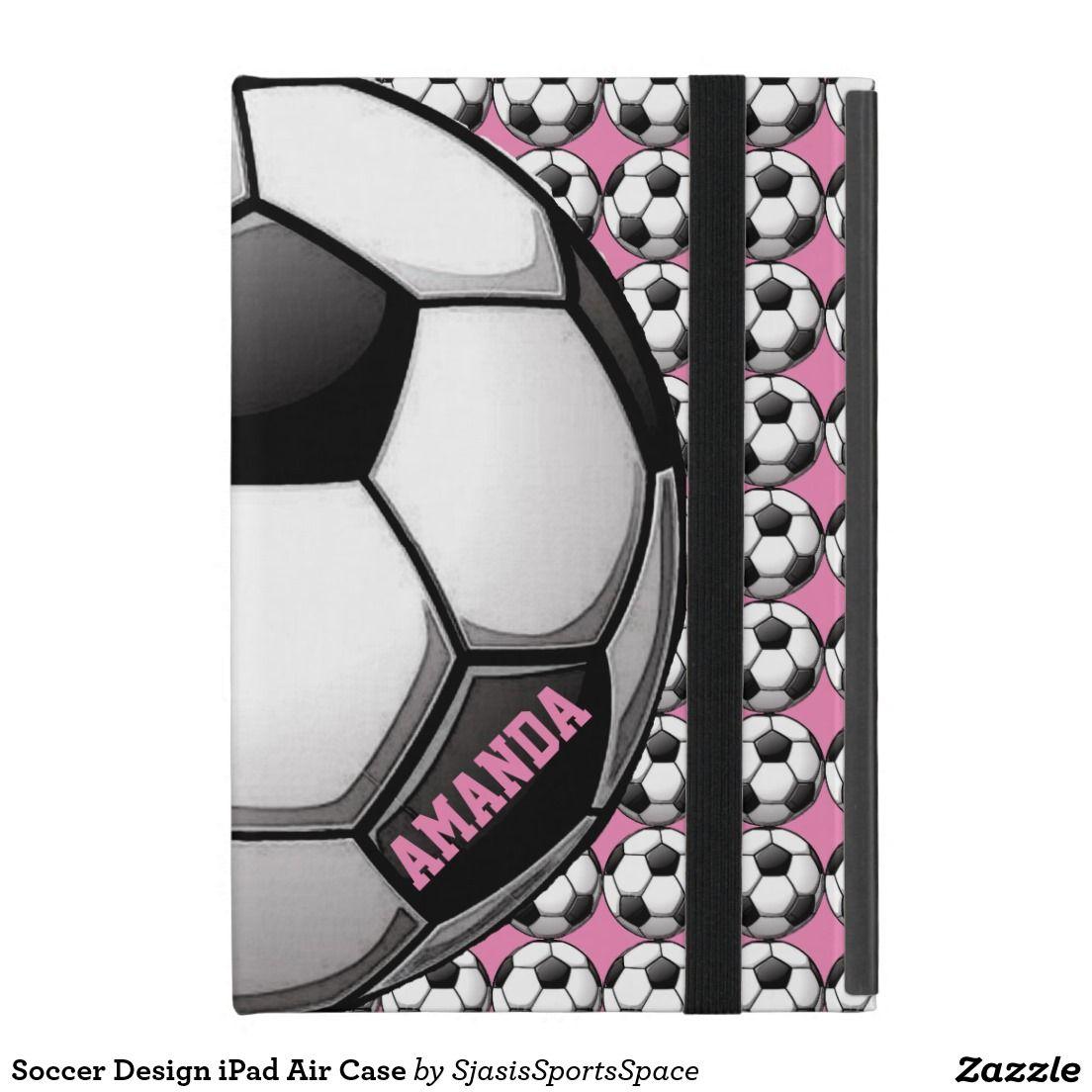 #Girly #Soccer Design iPad Air Case @sjasis