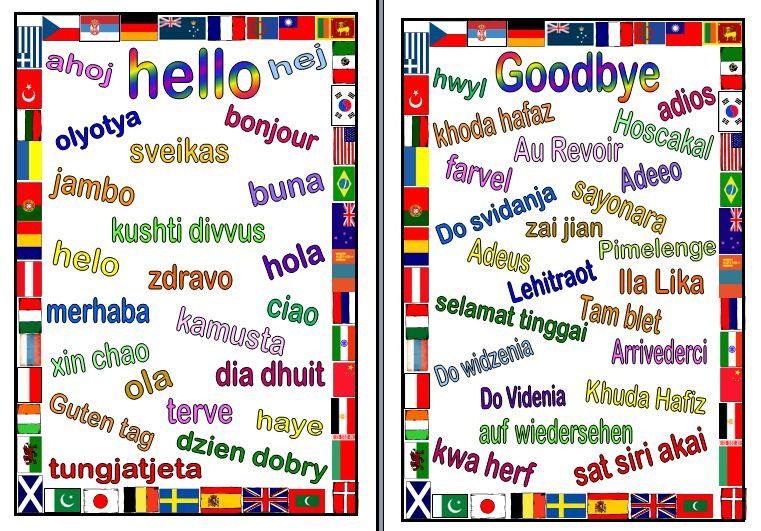 Hello good bye hello in languages language hello goodbye