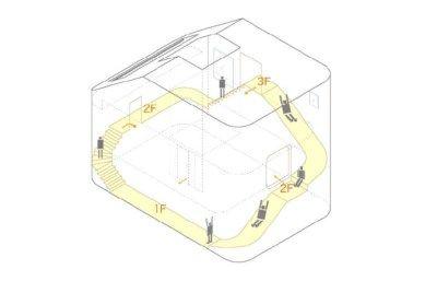 Het Japanse architectenatelier Level heeft een familiewoning met een glijbaan gecreëerd.