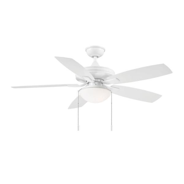 Hampton Bay Gazebo Iii 52 In White Led Indoor Outdoor Ceiling Fan With Light Kit Yg836a Wh The Home In 2020 Outdoor Ceiling Fans Ceiling Fan With Light Ceiling Fan