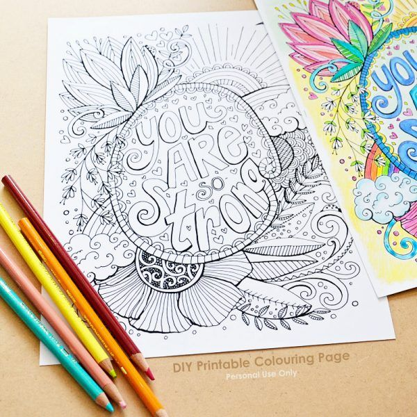 10 Fabulous Colouring Pages And Books Printable Coloring Pages Printable Wall Art Quotes Coloring Pages