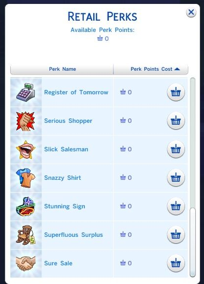 Mod The Sims Cyberops Free Retail Perks Mod Half Cost Retail Perks Mod Sims Sims 4 Mod