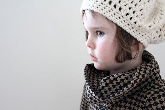 Slouchy Beret Hipster Hat Ready to Ship in Cream  by piggyandbear, $20.00