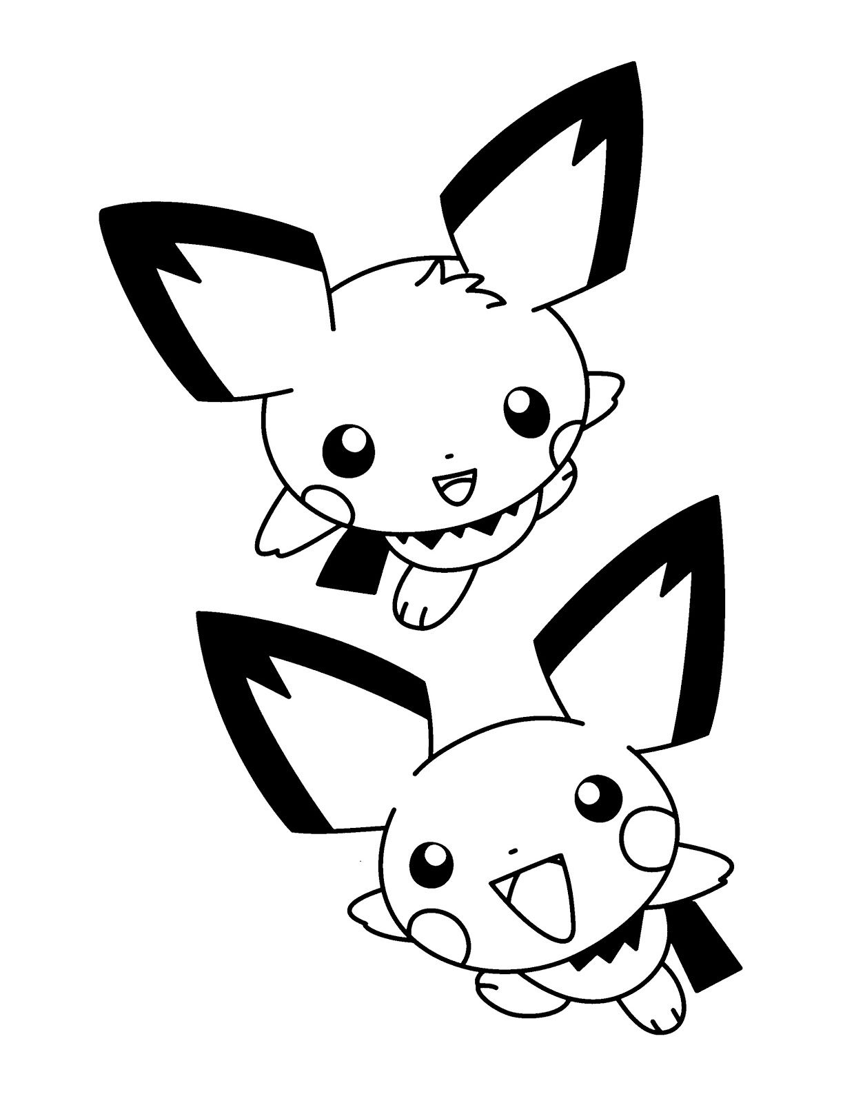Coloring Pokemon Pichu Pictures For Kids Pokemon Coloring Pages Horse Coloring Pages Pokemon Coloring