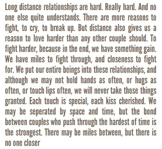 compromise in a long distance relationship