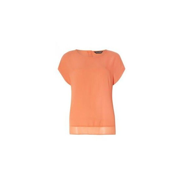 Rust Button Back Tee ❤ liked on Polyvore featuring tops and t-shirts