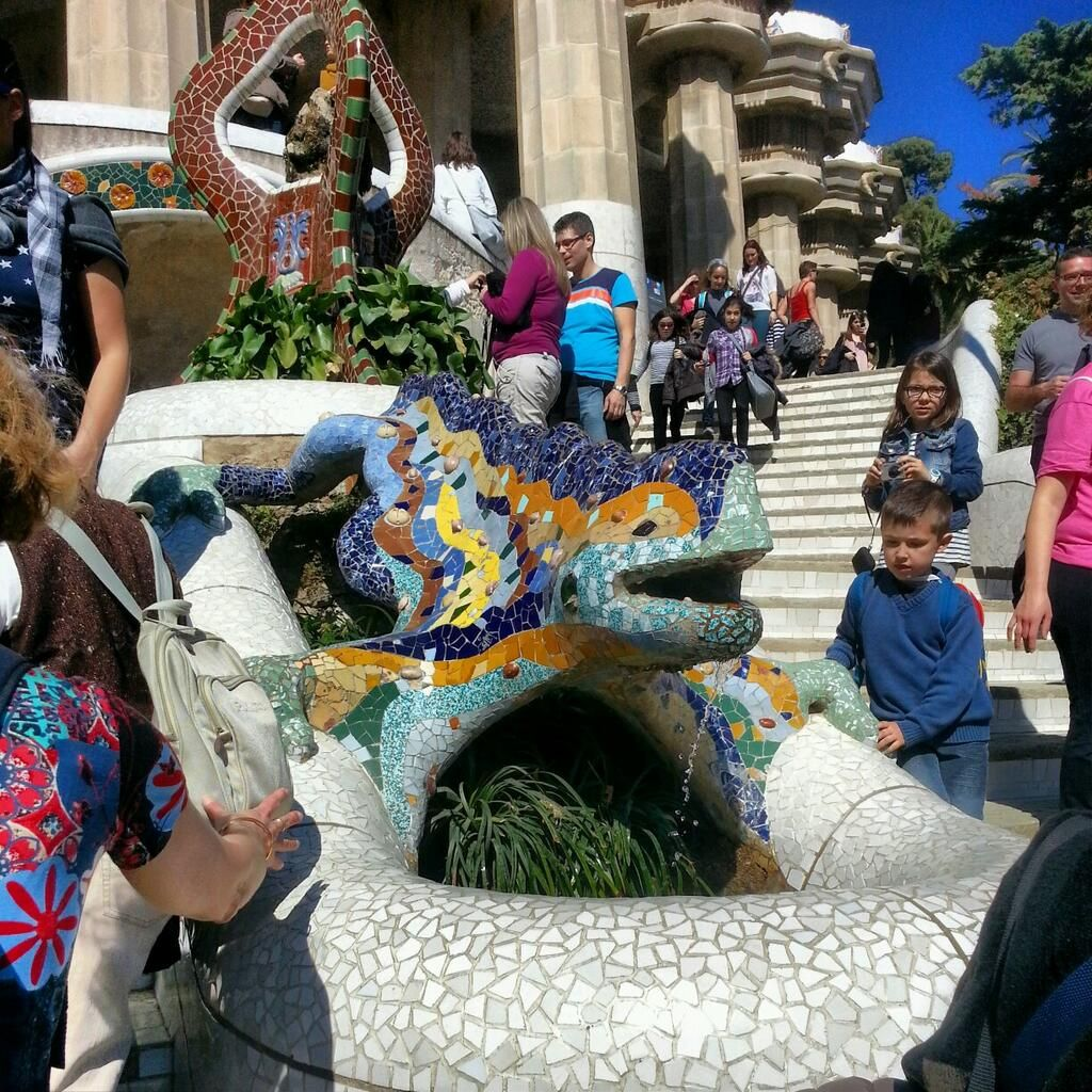 La salamandra!! Parc Güell #SomosVueling @Vueling Airlines