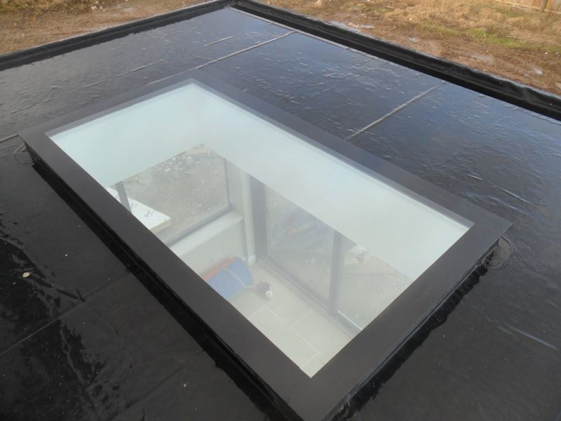 Flat roof light flat roof skylights residential for Window roof design