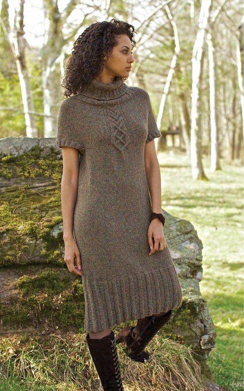 7d63767bbfd Платье реглан спицами сверху. Женское платье реглан вязанное спицами ...
