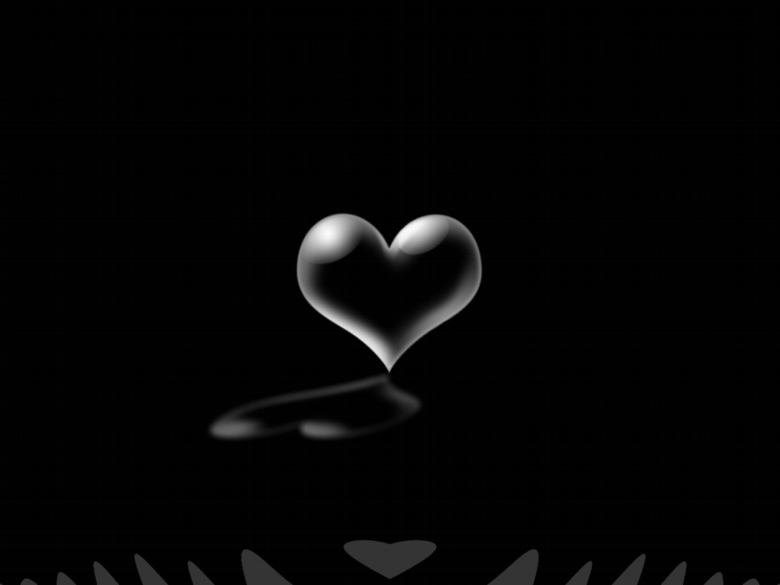 Black heart black wallpaper