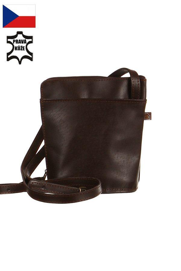 Malá dámská crossbody kabelka z pravé kůže - Česká výroba - koupit online  na Glara. 7f2ab1fd6a6