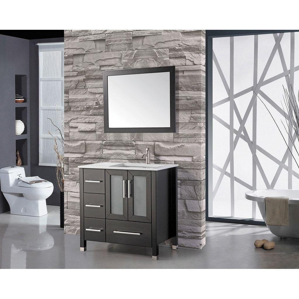 Mtd Vanities Sweden 36 Inch Single Sink Bathroom Vanity Set Right Side With Fr Bathroom Vanity Single Sink Bathroom Vanity Modern Bathroom Vanity