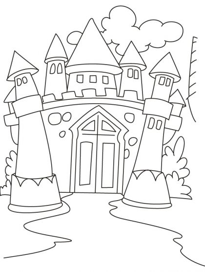 Castles Coloring Pages | Download Free Castles Coloring Pages for ...