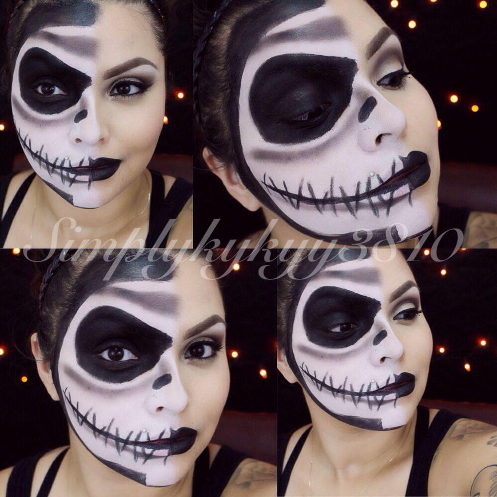 Jack skellington makeup Horror crafts, Face painting