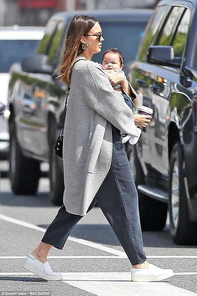 Jessica Alba enjoys snuggles with her baby boy on