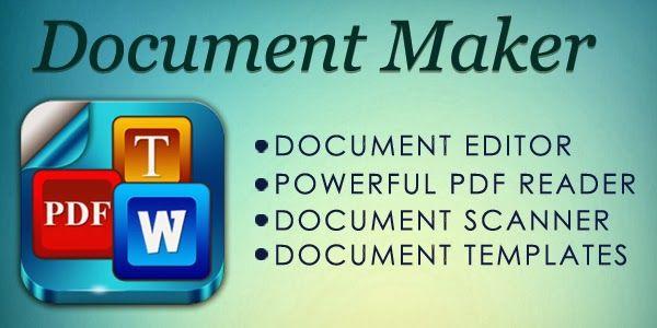 Document Maker   jmp/DocMak \u2022 Lightweight office work on the - scan to spreadsheet app iphone