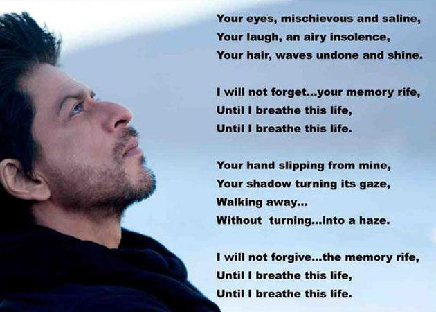 3bce49298d04 Shah Rukh Khan translate Jab Tak Hai Jaan poem into English
