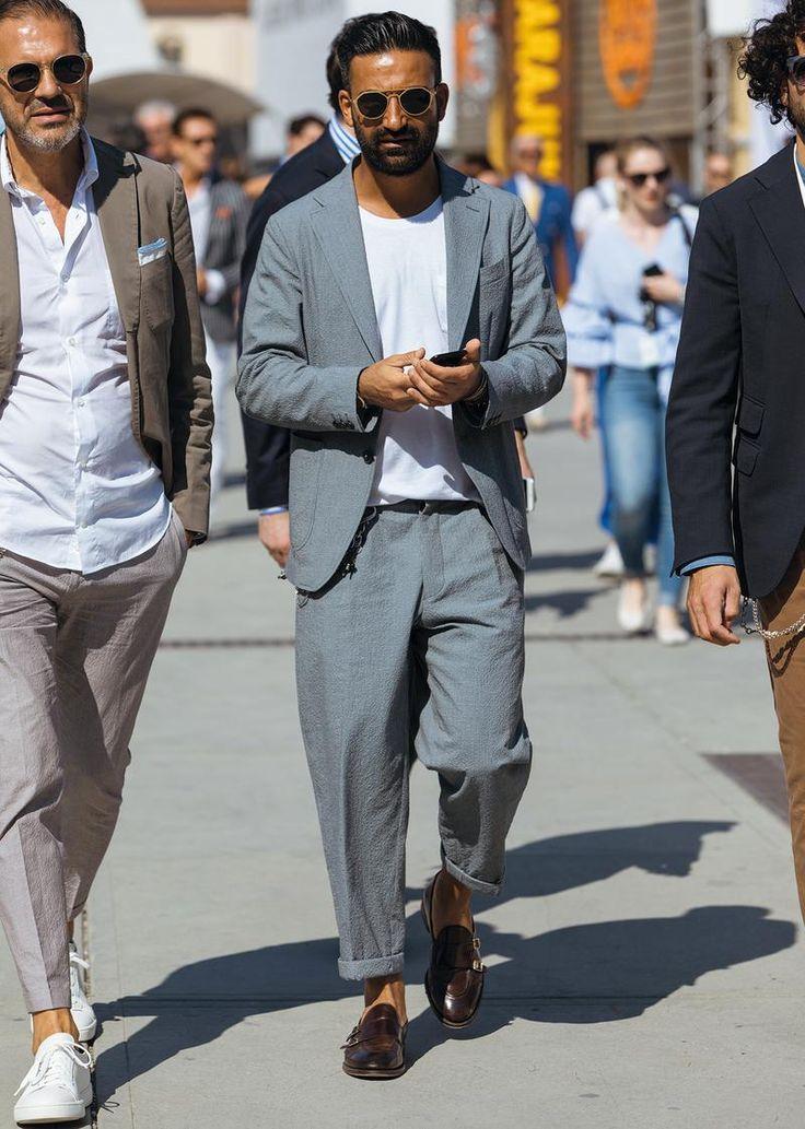 スーツにTシャツ。どう着たらお洒落に見える? | ファッションスナップ(メンズ) | LEON レオン オフィシャルWebサイト