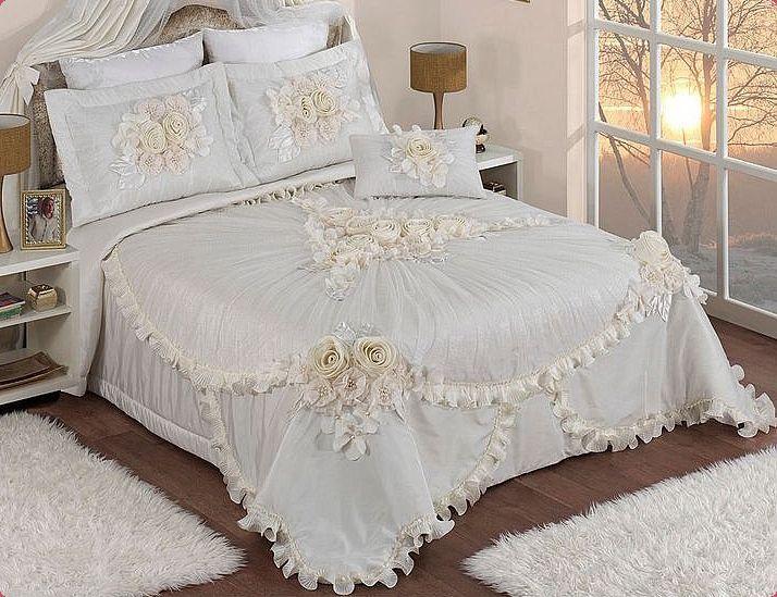 шикарные покрывала на кровать фото