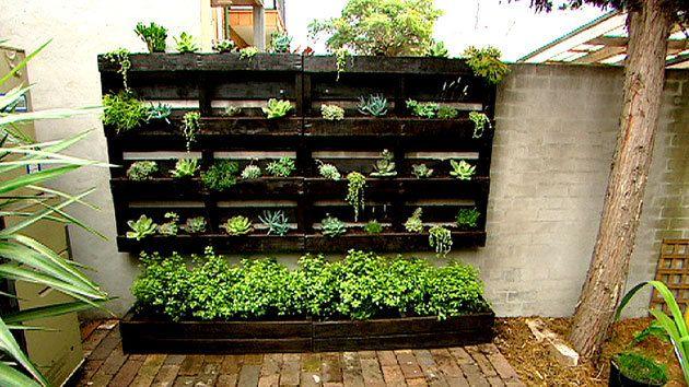 $50 challenge - vertical pallet garden - Better Homes and Gardens - Yahoo!7