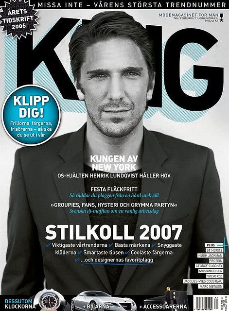 Henrik Cover King Magazine This Is Henrik Henrik Lundqvist
