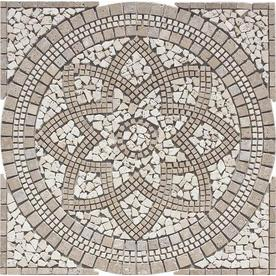 Floors 2000 36 In X Medallions Multicolored Natural Stone Mosaic Floor Tile