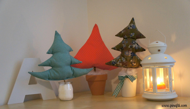 Pinafili films rboles navide os de tela costura v deo - Arbol de navidad de tela ...