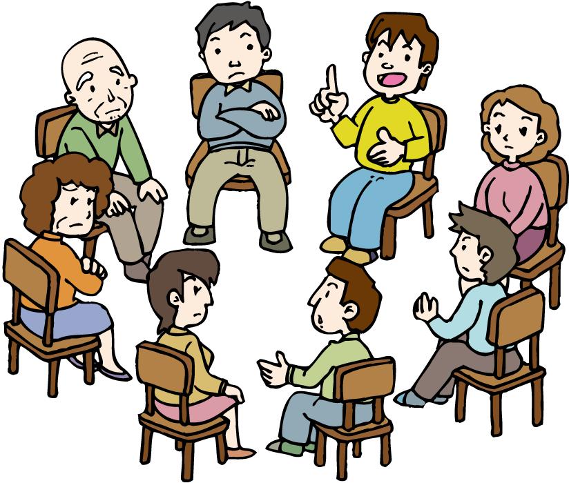 フリーイラスト 集会で話し合いをする人々 | フリーイラスト, イラスト ...