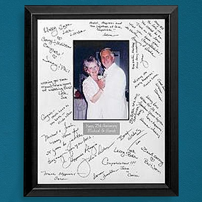 Beautiful Autograph Wedding Picture Frame Ideas - Picture Frame ...