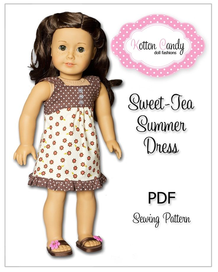 American Girl Doll Patterns Free | PDF Sewing Pattern for 18 Inch ...