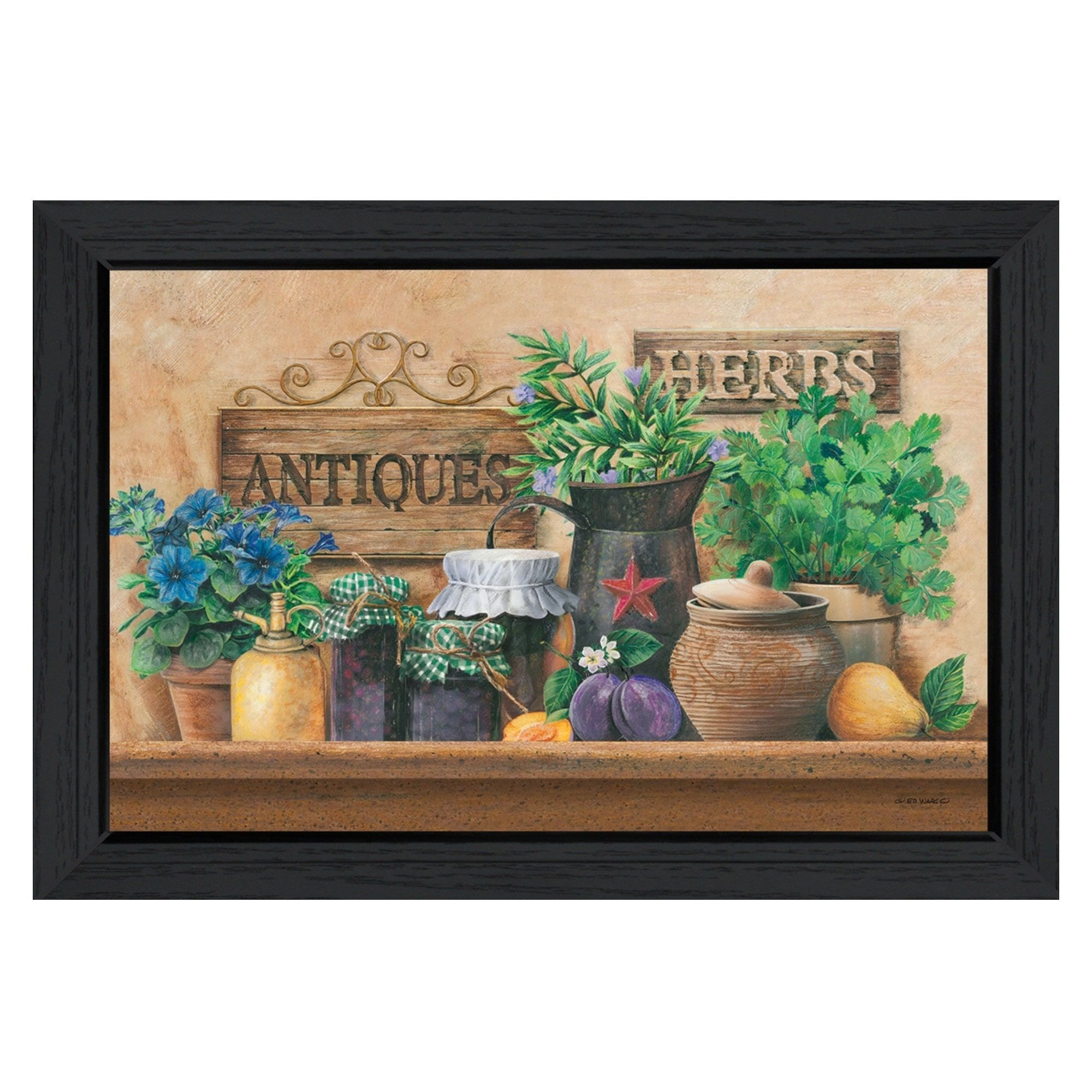 """Antiques and Herbs"" By Ed Wargo, Printed Wall Art, Ready"