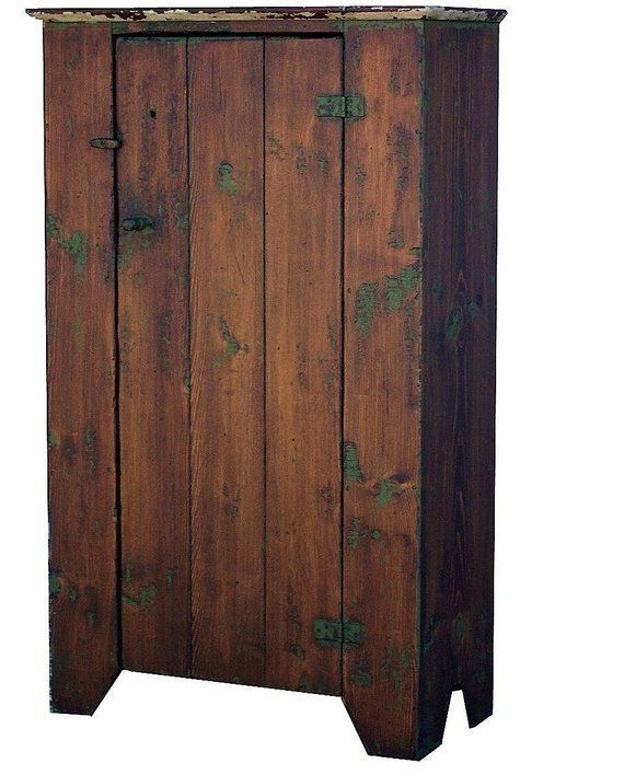 Primitive rustic chimney cupboard painted country style reproduction farmhouse distressed custom cabinet  Primitive rustic chimney cupboard painted country style reproduc...