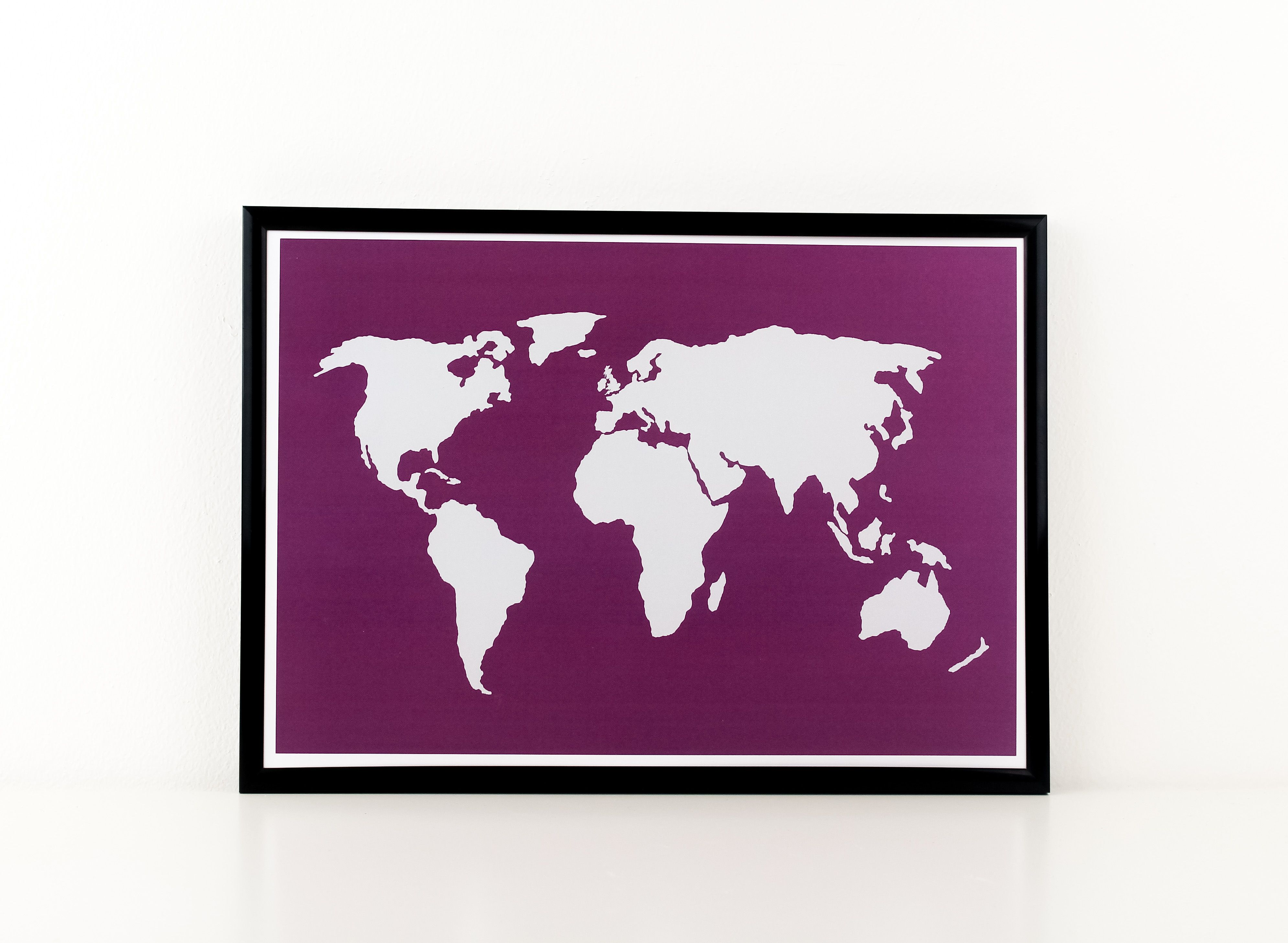 World Map Canvas, Personalised Gift, Custom Made, Canvas Art, Wall