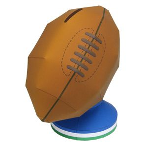 rugby ball money box toys paper craft canon creative park