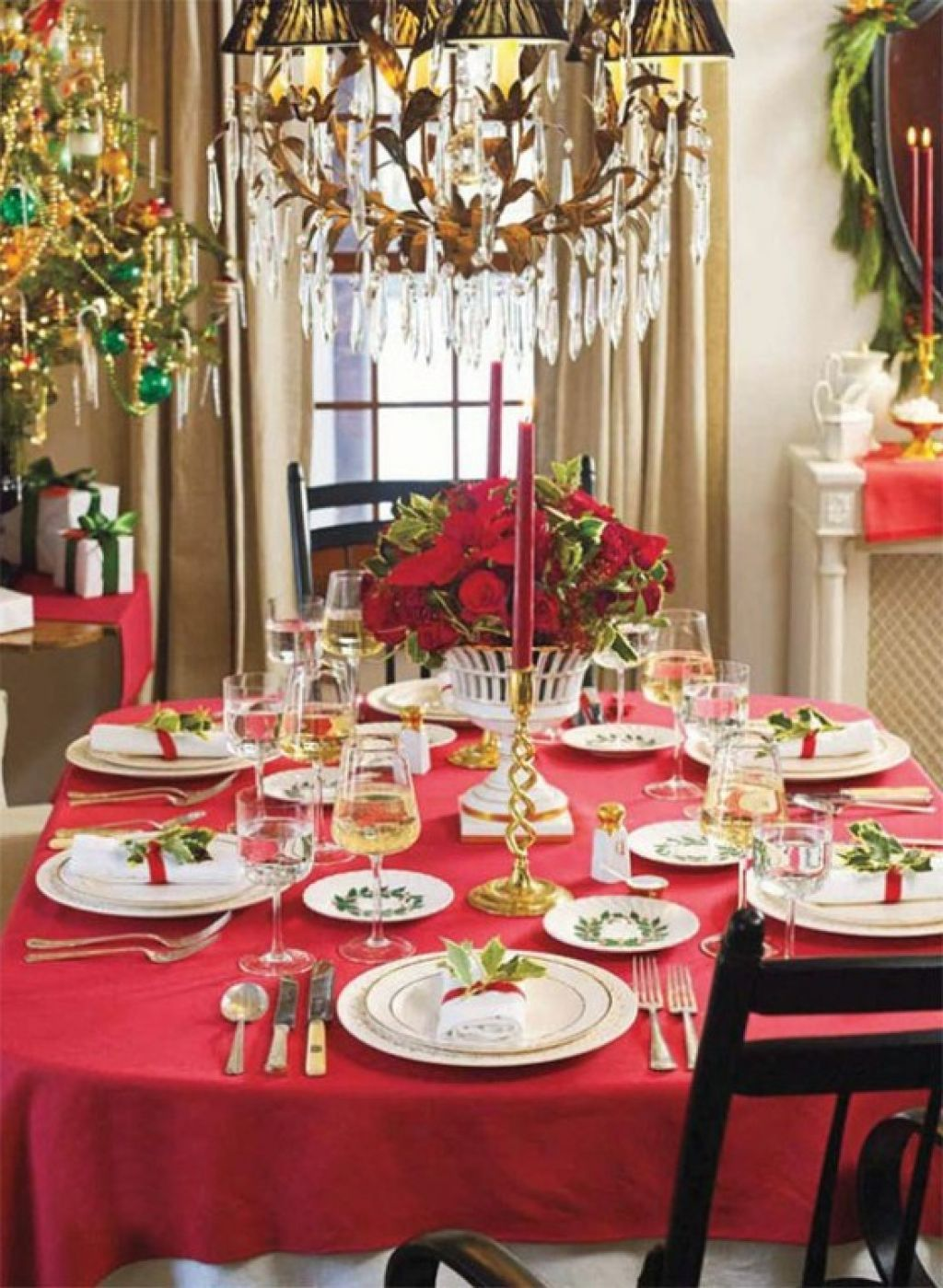 Various Christmas Dinner Table Decoration Ideas - Dinner Party . & Various Christmas Dinner Table Decoration Ideas - Dinner Party ...