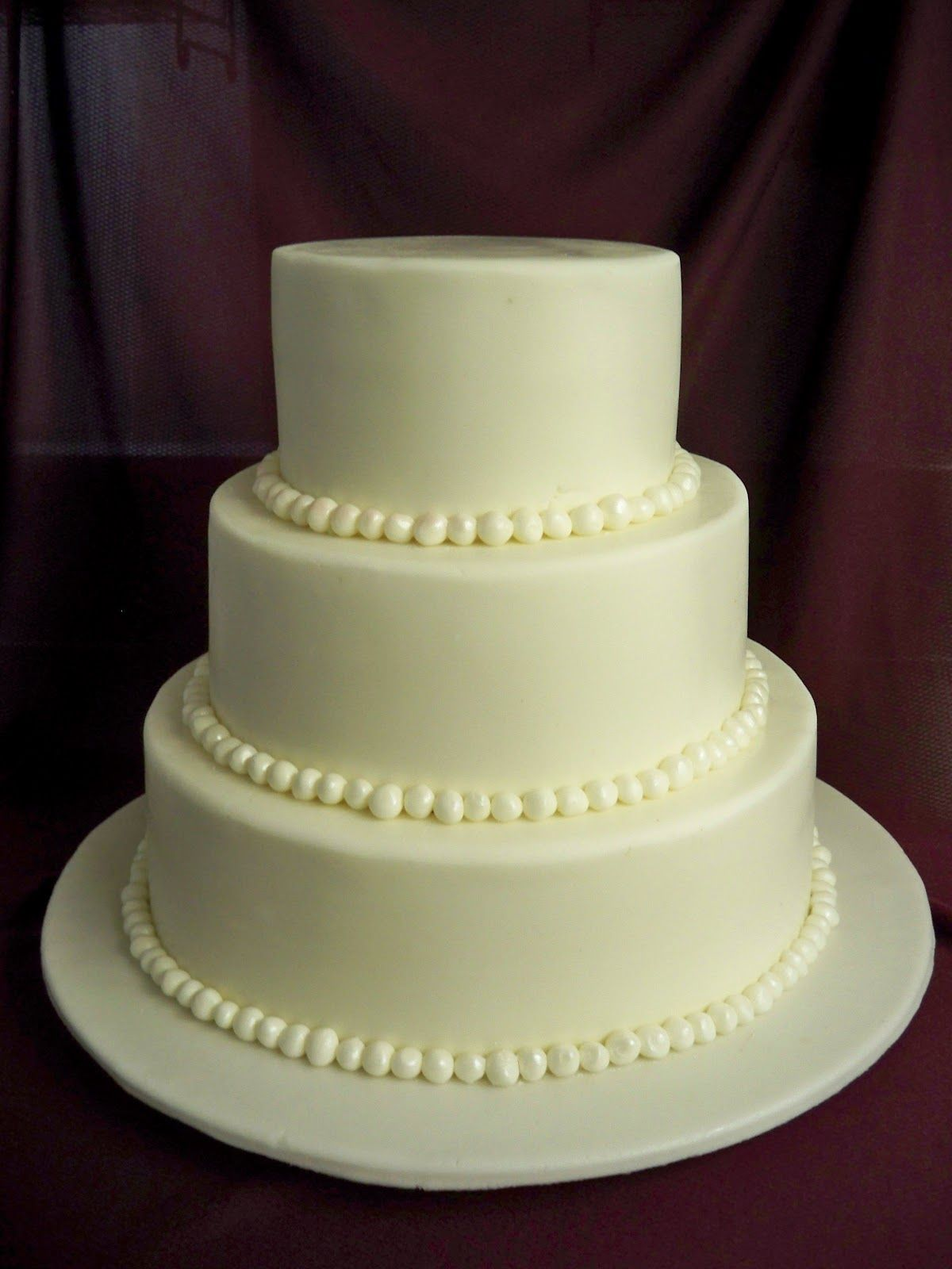 3 tier white wedding cake four separated tier wedding cakes black and white 3 tier 10356